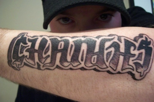 Changes Ambigram Tattoo