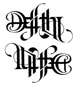 Death & Life Ambigram Tattoo