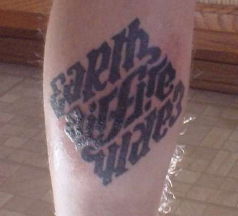 Earth Air Fire Water Ambigram Tattoo