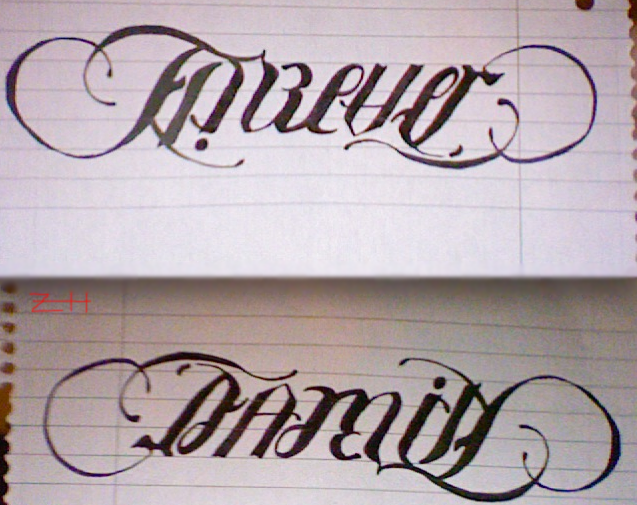 Forever Family Ambigram Tattoo