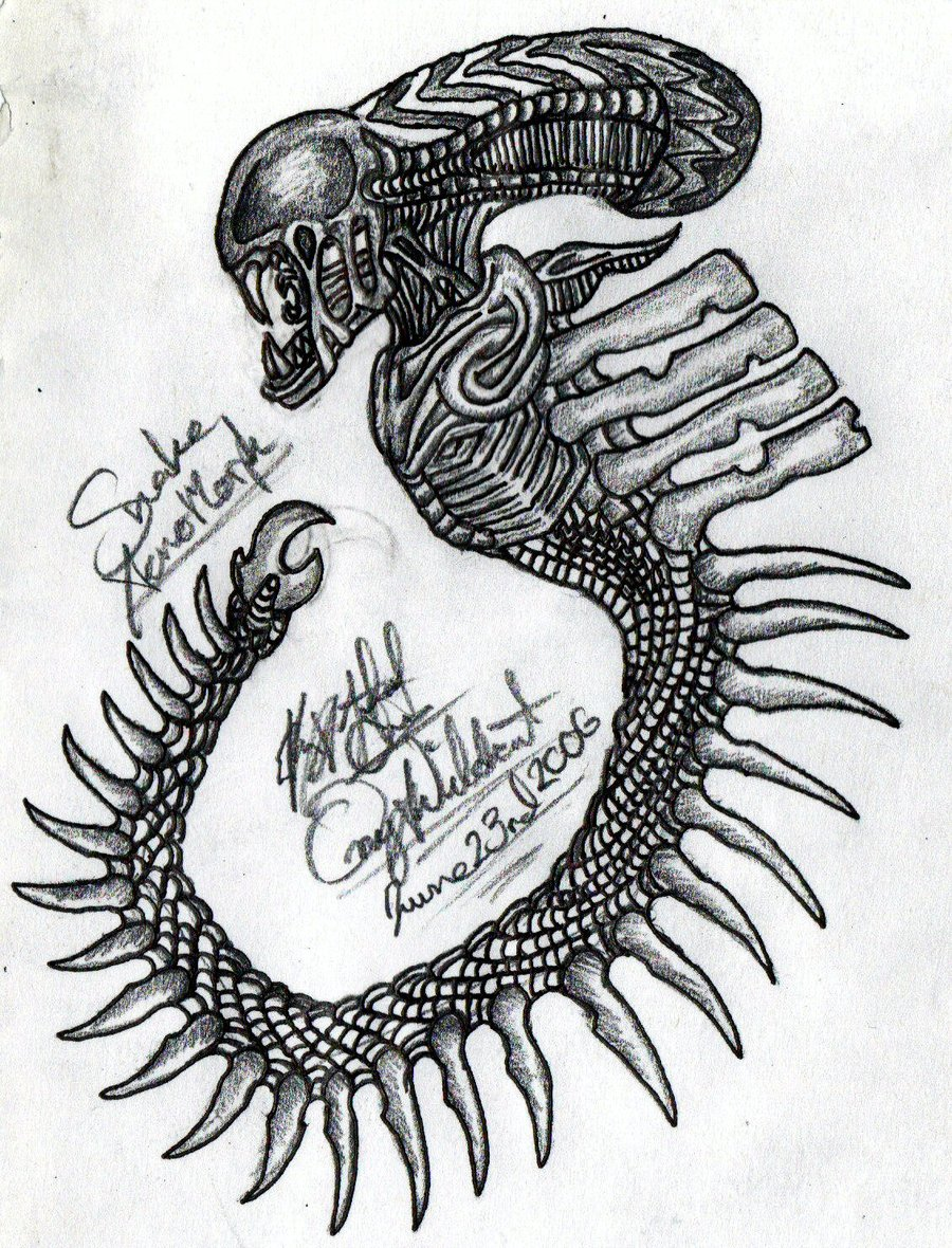 Future Alien Tattoo Design