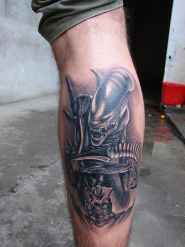 Latest Alien Tattoo for Guys