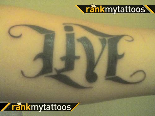 Live Ambigram Tattoo