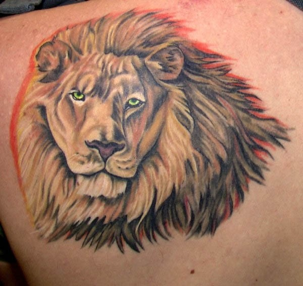 Majestic African Lion Tattoo On Back