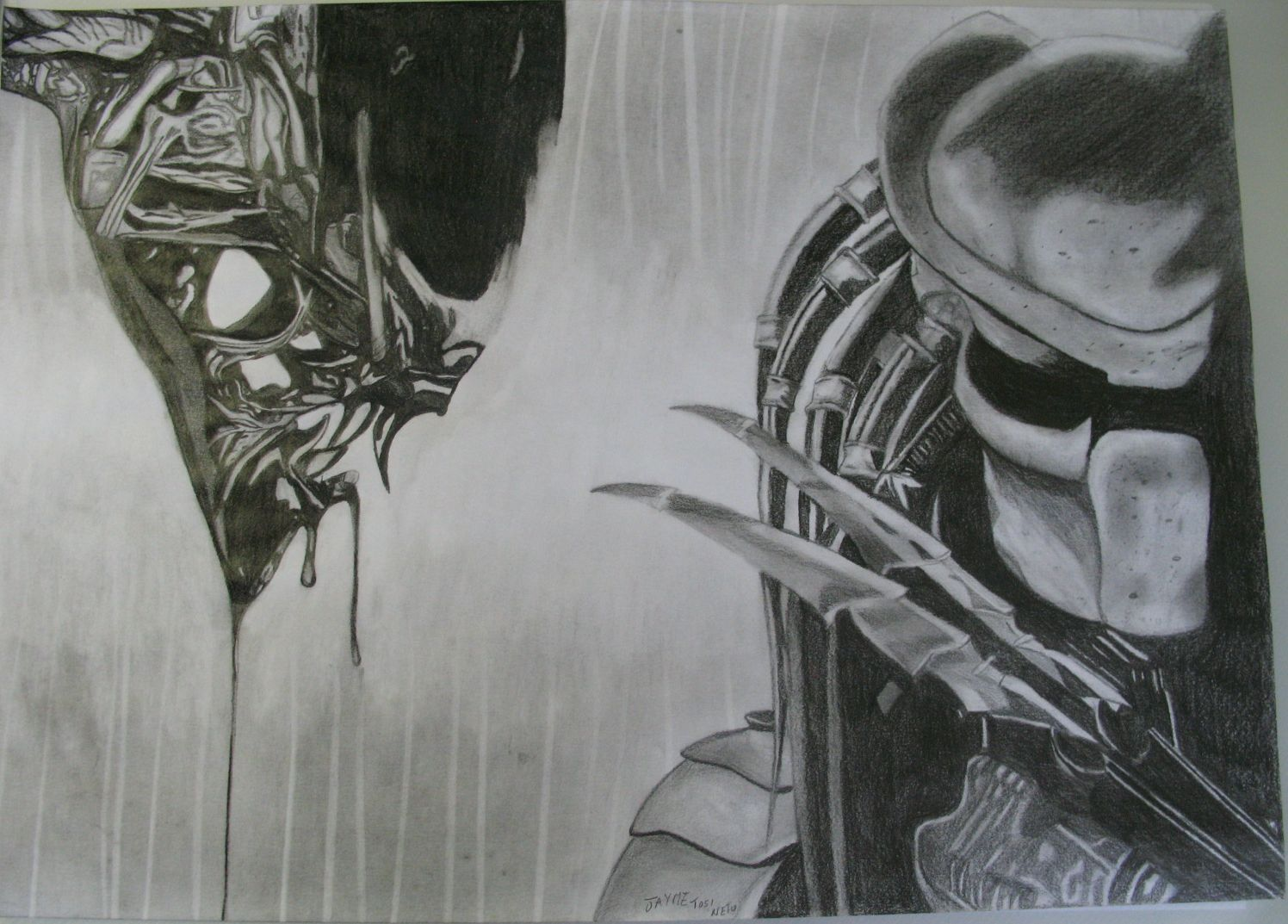 Mind Blowing Alien Vs Predator Sketch
