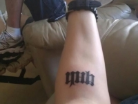Small Ambigram Tattoo Design For Men