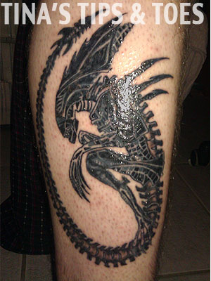 Stunning Giger Alien Tattoo Design
