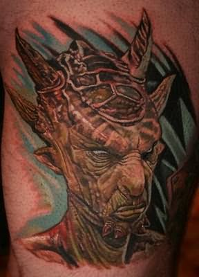 Ugly Alien People Face Tattoo
