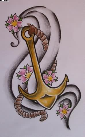 Latest Anchor Tattoo Design