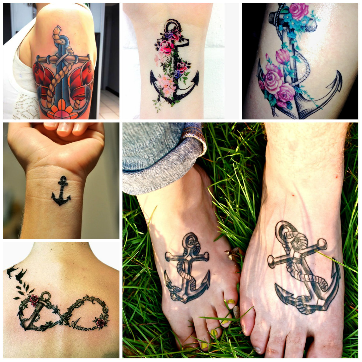 Latest Anchor Tattoo Designs For Women