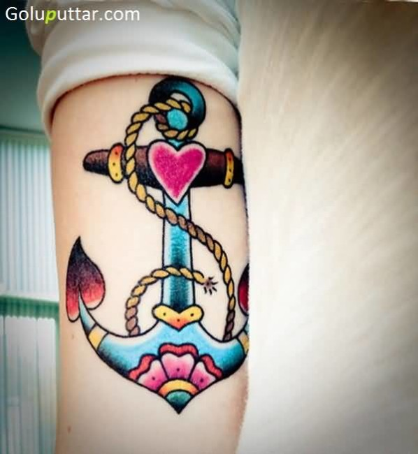 Mind Blowing Anchor Tattoo Design