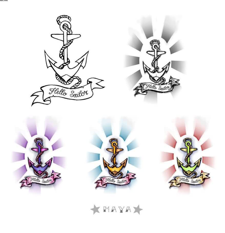Mind Blowing Anchor Tattoo Designs