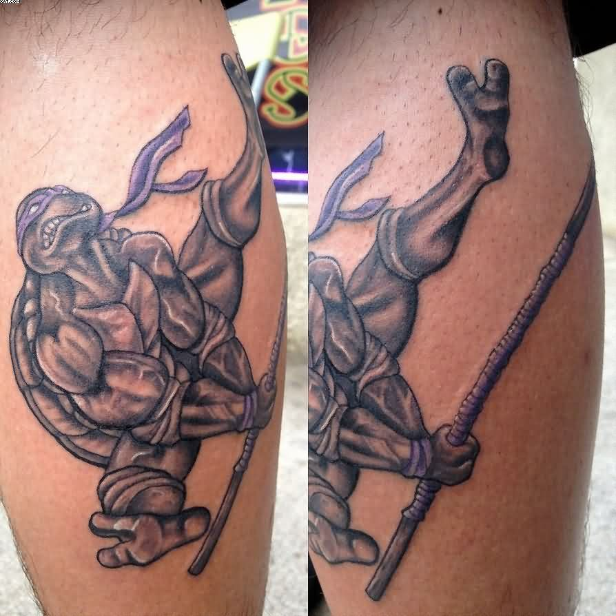 Ninja Turtle Animated Tattoo