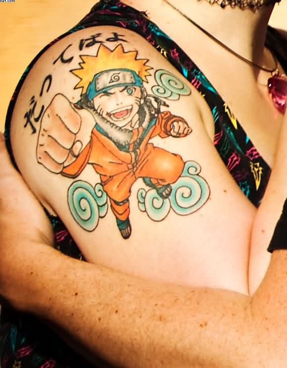 Powerful Animated Tattoo Of Naruto