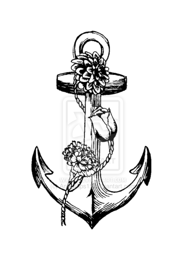 Rope Anchor Tattoo Design