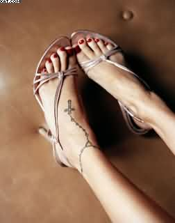 Rosary Ankle Tattoo