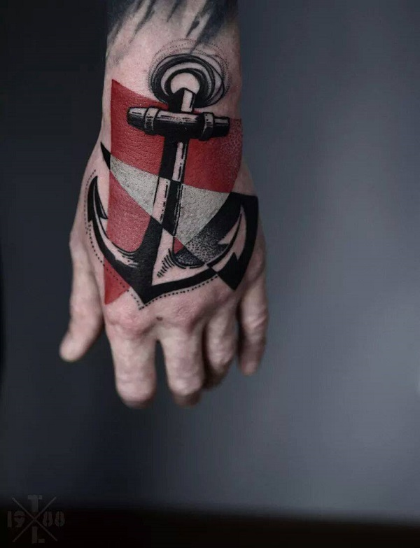 Terrifying Anchor Tattoo On Hand