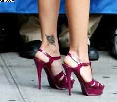 Tiny Left Ankle Tattoo