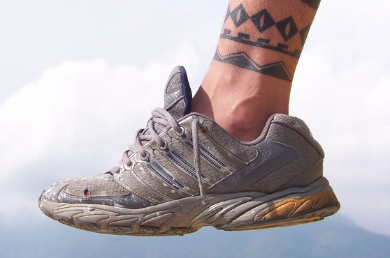 Traditional Maori Ankle Band Tattoo