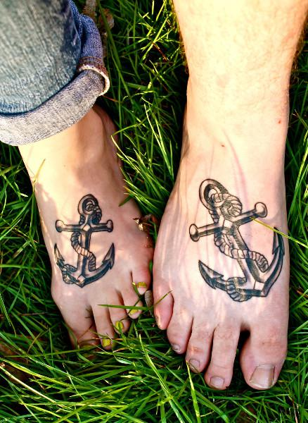 Tremendous Foot Anchor Tattoo