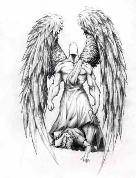 Warrior Angel Tattoo Design