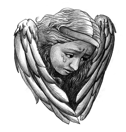 Weeping Angel Tattoo Design