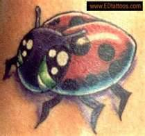 A Lady Bug Tattoo Design