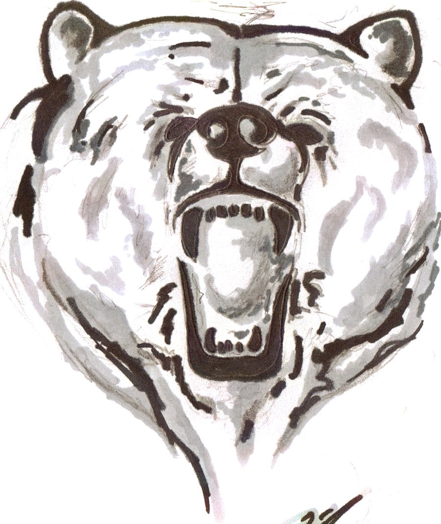 A Roaring Bear Tattoo Design