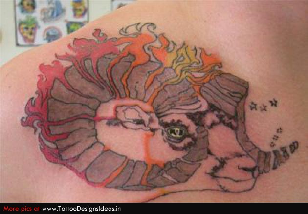 Amazing Aries Ram Tattoo Design