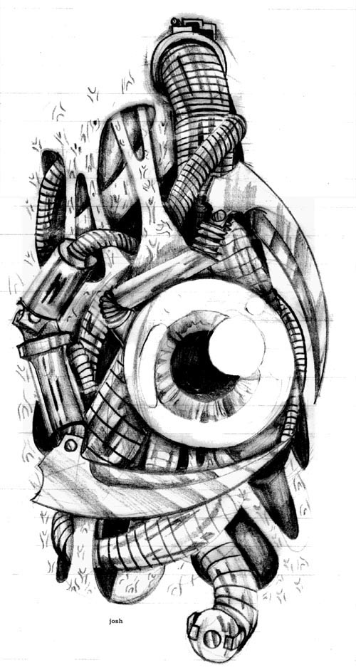 Biomechanical Tattoos Designs And Ideas Page 35