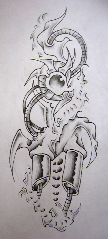 Amazing Biomechanical Sketch