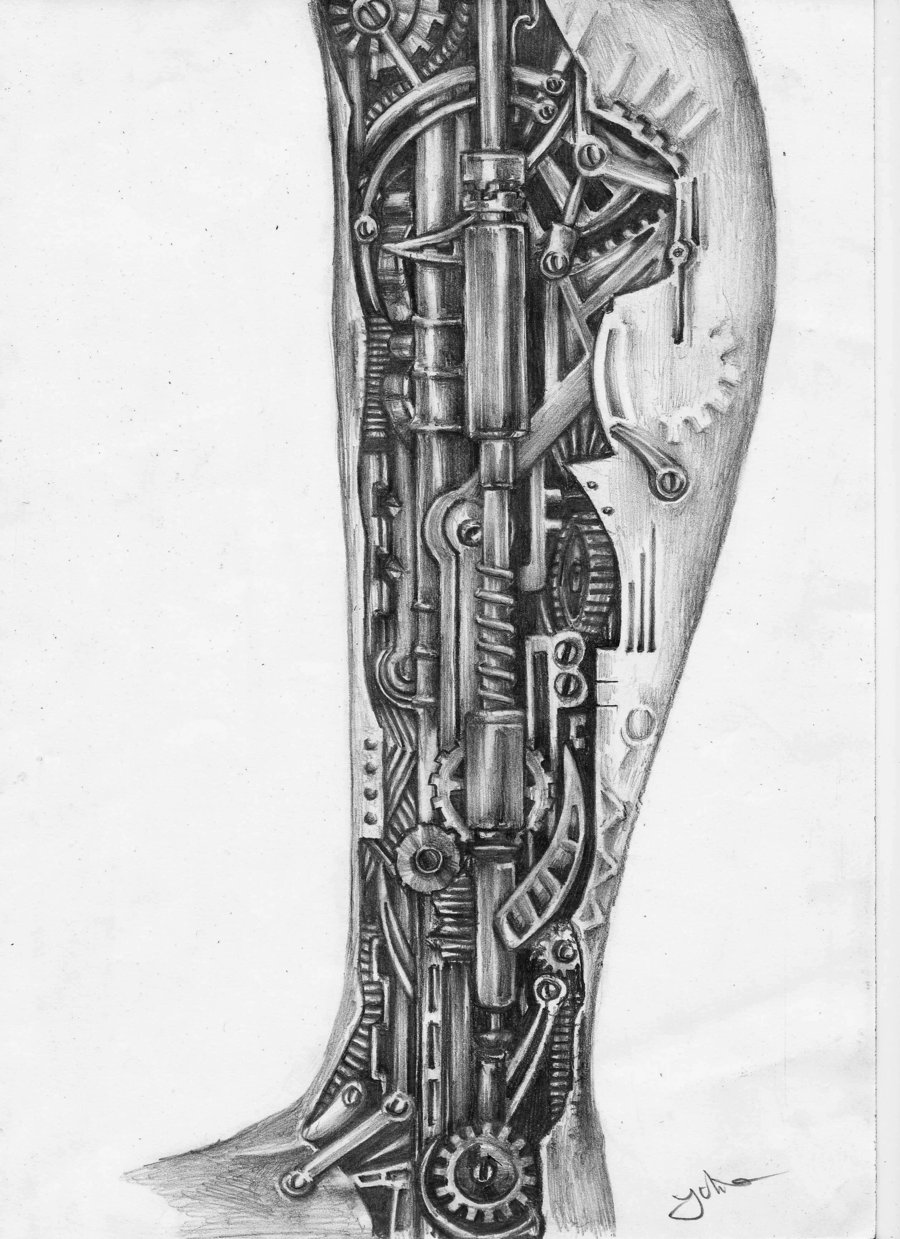 More Tattoo Images Under  Biomechanical TattoosBiomechanical Gears Drawings
