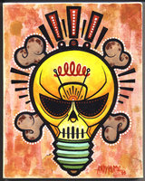 Amazing Skull Light Bulb Tattoo Design