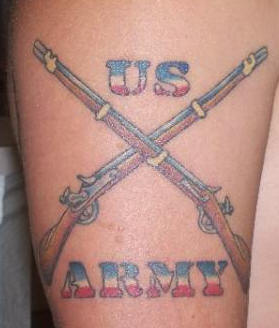 Amazing US Army Tattoo Design