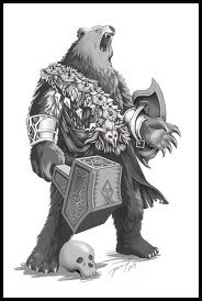 Amazing Warrior Bear Tattoo Design