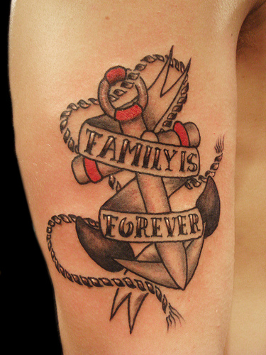 Family Forever Tattoos Anchor with family is forever