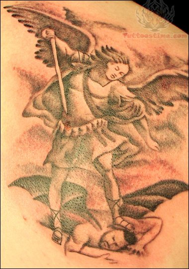 Angel Beat Devil Tattoo Design