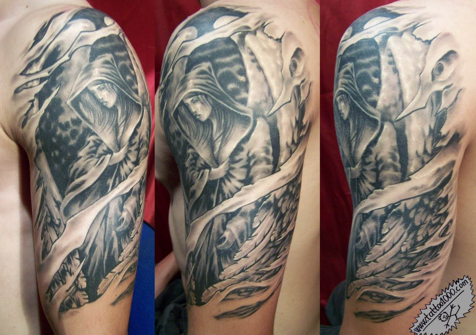 Angel Tattoo Designs On Arms