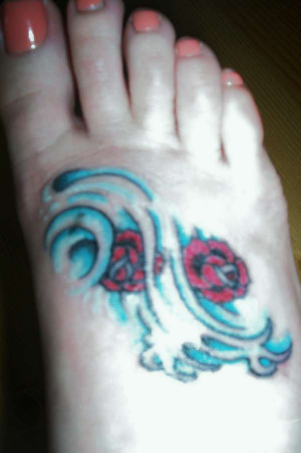 Aquarius Tattoo On Foot