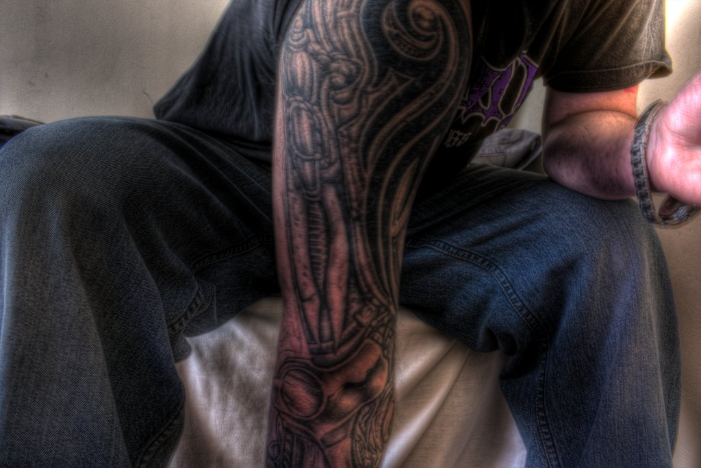 Arm Cover With Alien Tattoo