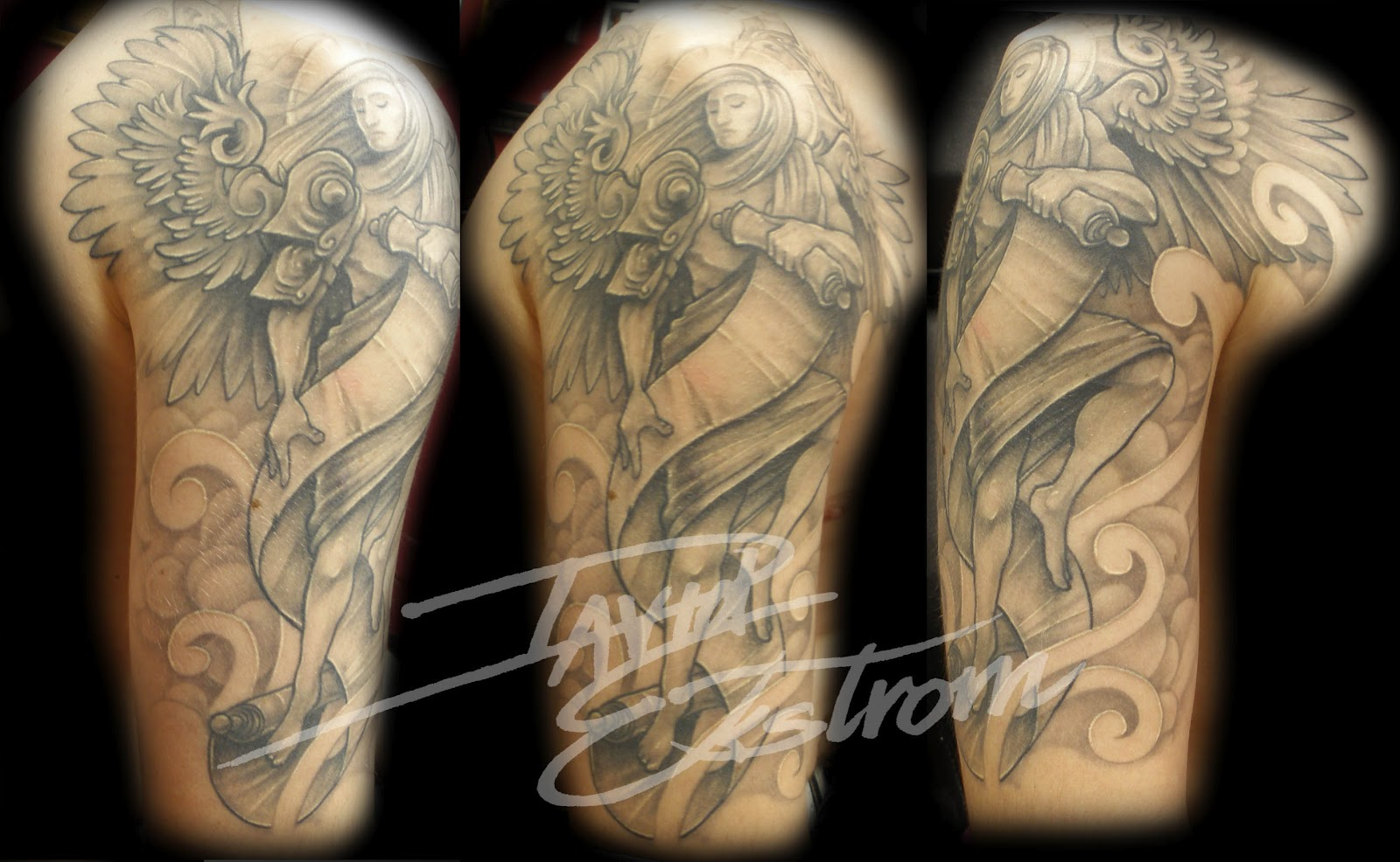 Arm Angel Tattoo Des
