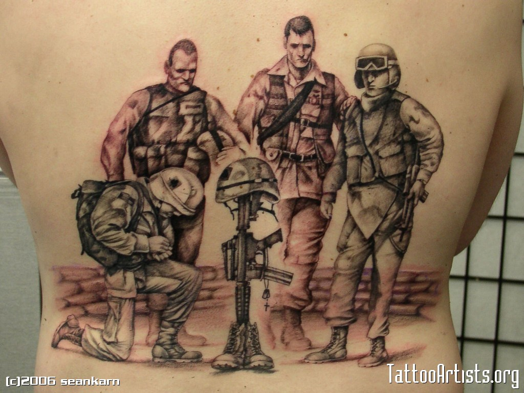 Army Men Tattoo Design