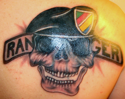 Army Ranger Skull Tattoo