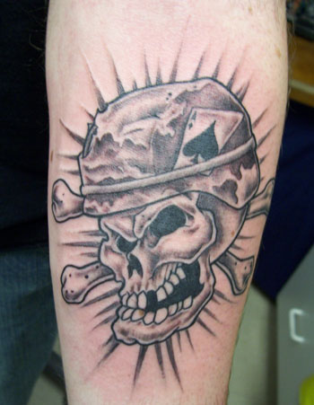 Army Skull Tattoo Design