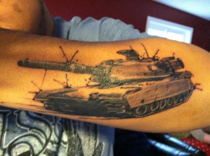 Army Tank Tattoo Design
