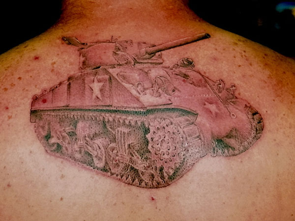 Army Tank Tattoo