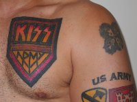 Army Tattoo On Chest & Arm