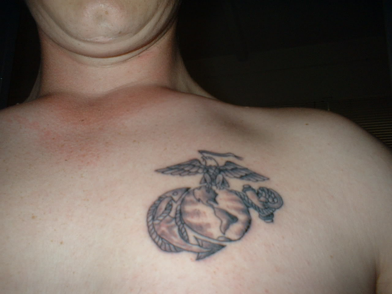 Army Tattoo On Chest