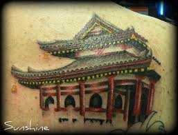Asian Temple Tattoo