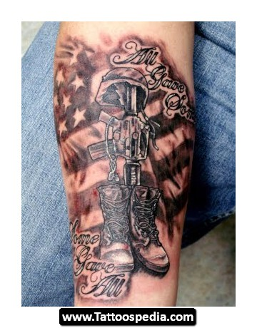 Attractive US Army Tattoo Design